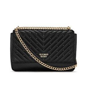 NWT Victoria's Secret Studded V-Quilt Shoulder Bag